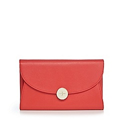 J by Jasper Conran - Bright red textured clutch bag