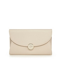 J by Jasper Conran - Cream textured clutch bag