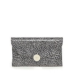 J by Jasper Conran - Black textured petal print clutch bag