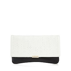 J by Jasper Conran - Black and white colour block flap over clutch bag