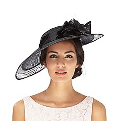 J by Jasper Conran - Black cut-out applique flower saucer fascinator