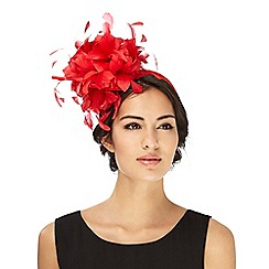 J by Jasper Conran - Bright red feather fascinator