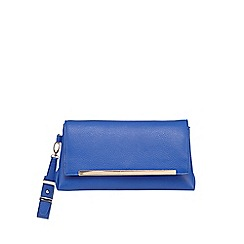 Principles by Ben de Lisi - Bright blue soft leatherette clutch bag