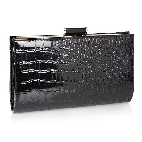 J by Jasper Conran - Designer black oversize clutch bag
