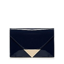 Principles by Ben de Lisi - Navy patent triangle clutch bag