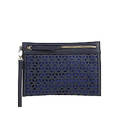 Principles by Ben de Lisi - Navy cut-out clutch bag