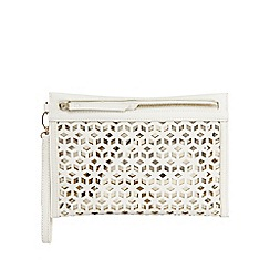 Principles by Ben de Lisi - Ivory cut-out clutch bag