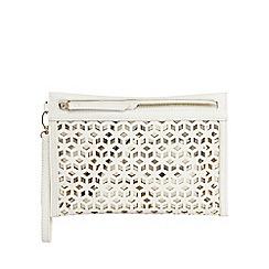 Principles by Ben de Lisi - Ivory cut-out clutch bag