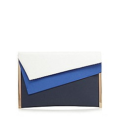 Principles by Ben de Lisi - Navy layered colour block clutch bag