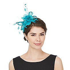 Principles by Ben de Lisi - Turquoise 'Alex' feather hair band