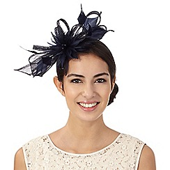 Principles by Ben de Lisi - Navy flamingo feather fascinator