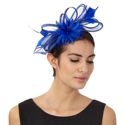 Principles by Ben de Lisi Blue flamingo feather fascinator 69049be5893