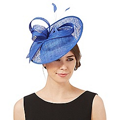 Principles by Ben de Lisi - Blue mini saucer fascinator