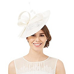 Principles by Ben de Lisi - Ivory mini saucer fascinator