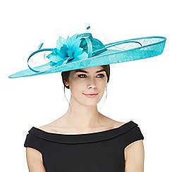 Principles by Ben de Lisi - Turquoise oversize lily saucer fascinator