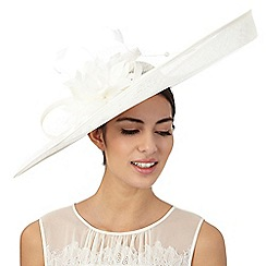 Principles by Ben de Lisi - Ivory oversize lily saucer fascinator