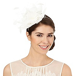 Principles by Ben de Lisi - Ivory net flower fascinator