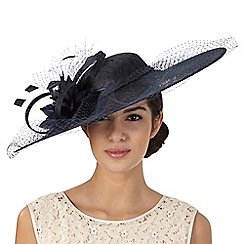 Principles by Ben de Lisi - Navy net overlay hat fascinator