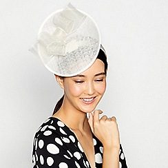 Principles by Ben de Lisi - Ivory veil quill fascinator