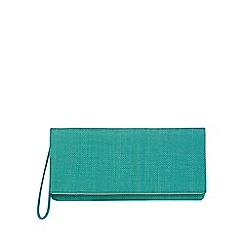 Principles by Ben de Lisi - Green woven clutch bag