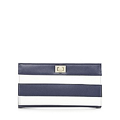 Principles by Ben de Lisi - Navy and white striped clutch bag