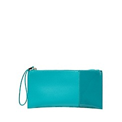 Principles by Ben de Lisi - Turquoise colour block clutch bag