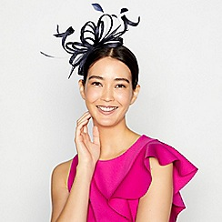 Principles by Ben de Lisi - Navy lily cloud fascinator