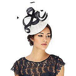 Principles by Ben de Lisi - White and navy bow fascinator