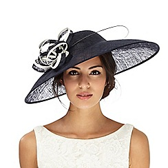 Principles by Ben de Lisi - Navy bow saucer fascinator