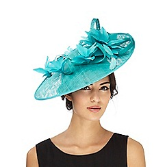 Principles by Ben de Lisi - Turquoise feather fascinator
