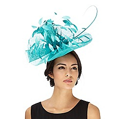 Principles by Ben de Lisi - Turquoise floral feather faschinator