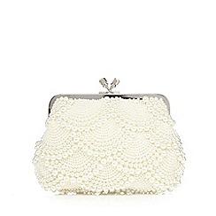 No. 1 Jenny Packham - Cream scallop pearl clutch bag
