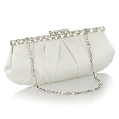 Designer Ivory Diamant  Frame Clutch Bag