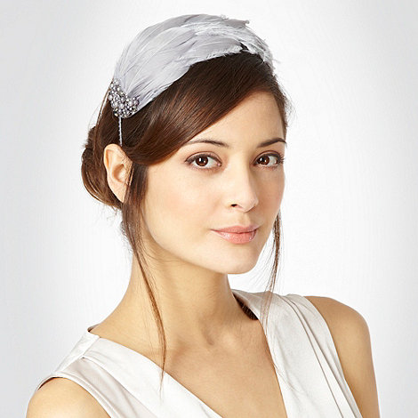 No. 1 Jenny Packham - Grey halo feather headband