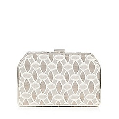 No. 1 Jenny Packham - Gold leaf textured trapezium clutch bag