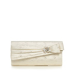 No. 1 Jenny Packham - Gold textured wave jewel embellished clutch bag