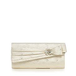 No. 1 Jenny Packham - Gold textured wave jewel embellished clutch bag