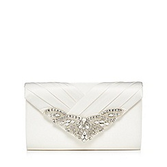 No. 1 Jenny Packham - Ivory jewel embellished clutch bag