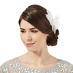 No. 1 Jenny Packham - Ivory large feather clip fascinator