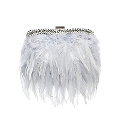 No. 1 Jenny Packham - Pale blue feather clutch bag