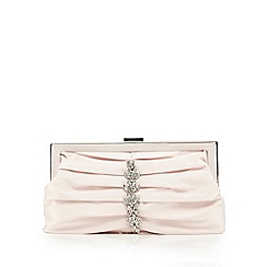 No. 1 Jenny Packham - Pink pleated front jewel embellished clutch bag