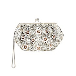 No. 1 Jenny Packham - Ivory beaded frame clutch bag