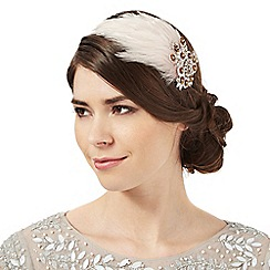 No. 1 Jenny Packham - Pink jewell feather headband