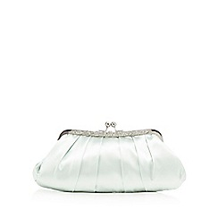 No. 1 Jenny Packham - Light green satin clutch bag