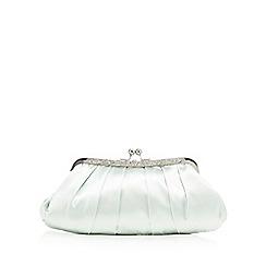 No. 1 Jenny Packham - Light green satin clutch bag
