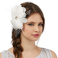 Floozie by Frost French - Ivory flower net hair clip