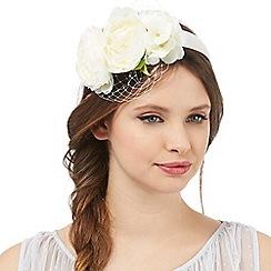 Floozie by Frost French - Ivory flower net headband
