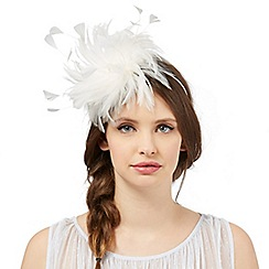 Floozie by Frost French - Ivory swirl feather fascinator