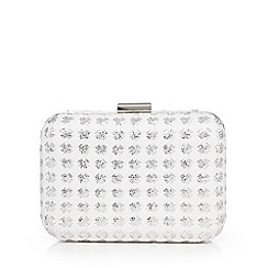 Floozie by Frost French - Ivory woven star box clutch