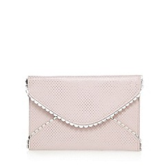Floozie by Frost French - White polka dot scalloped trim envelope clutch bag